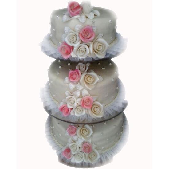 3 emeletes esküvői torta 7