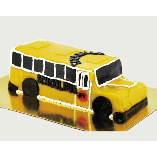 Iskolabusz torta