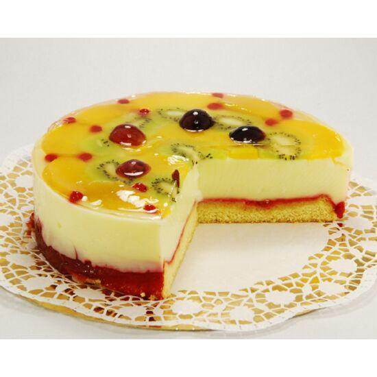 Gyümölcs torta, tortarendelés Pingvin Cukrászda Vác